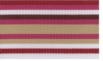 Belt Express Grosgrain Stripe 1-1/2in Burgundy, Tan