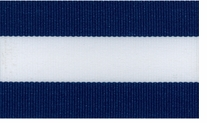 Belt Express Grosgrain Stripe 1-1/2in Navy, White