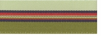 Belt Express Grosgrain Stripe 7/8in Green, Navy