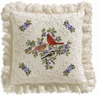 Birds And Berries Candlewicking Embroidery Kit
