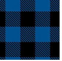 Buffalo Plaid Fleece Black/Royal 58/60in 100% Polyester D/R