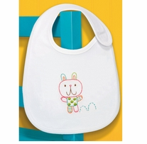 Bunny Bib Embroidery Kit 7.5 x 9in 1/Pkg