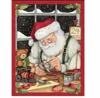 Busy Santa Panel 43/44in Wide 100% Cotton D/R