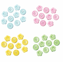Button Embellishment Fashion Dyed Buttons Baby 15mm