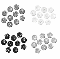 Button Embellishment Fashion Dyed Buttons Classic 15mm
