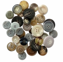 Button Embellishment Fashion Dyed Buttons Shells 60g