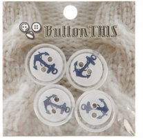 ButtonTHIS Novelty Buttons 1in Anchors Away 4/Pkg