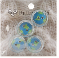 ButtonTHIS Novelty Buttons 1in Earth 4/Pkg