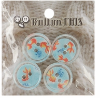 ButtonTHIS Novelty Buttons 1in Koi Pond 4/Pkg