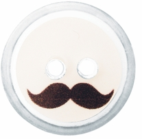 ButtonTHIS Novelty Buttons 1in Mustache 4/Pkg