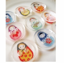 ButtonTHIS Novelty Buttons 1in Russian Doll 4/Pkg