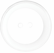 ButtonTHIS Solid Color Buttons 1in White 4/Pkg