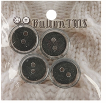 ButtonTHIS Solid Color Buttons 1in Grey 4/Pkg