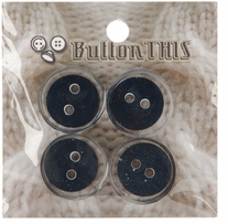 ButtonTHIS Solid Color Buttons 1in Indigo 4/Pkg