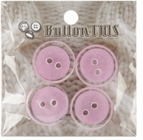 ButtonTHIS Solid Color Buttons 1in Lavender 4/Pkg
