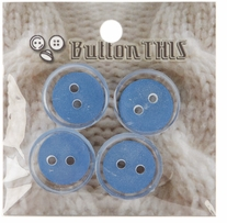 ButtonTHIS Solid Color Buttons 1in Periwinkle 4/Pkg