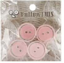 ButtonTHIS Solid Color Buttons 1in Pink 4/Pkg