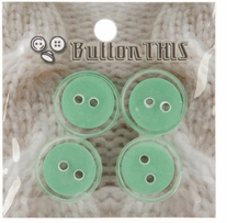 ButtonTHIS Solid Color Buttons 1in Seafoam 4/Pkg
