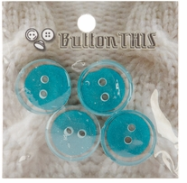 ButtonTHIS Solid Color Buttons 1in Teal 4/Pkg