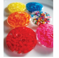 ButtonTHIS Sprinkle Buttons 1in Rainbow Sprinkle Dot 4/Pkg