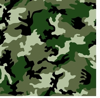 Camouflage Fleece 58/60in Wide 100% Polyester D/R Dark Green