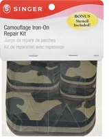 Camouflage Iron-On Repair Kit Patches