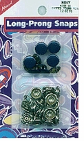 Capped Long Prong Snaps Size 16 Navy
