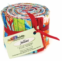 Cassovia Jelly Roll Fabric Red, Bright Green, Blue 20 Pieces