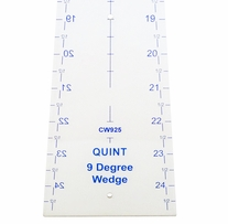 Circle Wedge 9 Degrees 25in Long with 1in Measuring