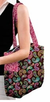 City Tot Diaper Bag Teardrop Paisley Brown