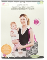 City Tot Diaper Bag Zebra & Polka Dot Black