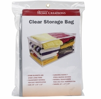 Clear Storage Bag 12inX14inX25in