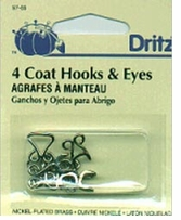 Coat Hook and Eyes Nickel
