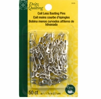 Coil-Less Curved Safety Pins Size 1 50/Pkg