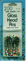 Colored Glasshead Pins Size 22 200/Pkg