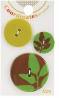 Coordinates Buttons Green Silhouette
