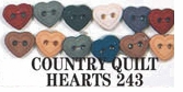 Country Creations Dress It Up Embellishments Quilt Hearts