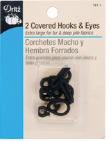 Covered Hooks & Eyes Black