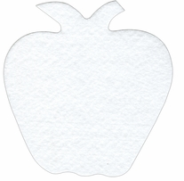 Craf-Tex Mug Rug Shapes Apple 5.5inX5.75in 4/Pkg