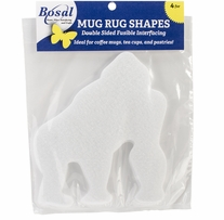 Craf-Tex Mug Rug Shapes Gorilla 5.5inX6.25in 4/Pkg