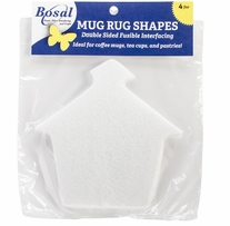 Craf-Tex Mug Rug Shapes School House 5.5inX5.5in 4/Pkg