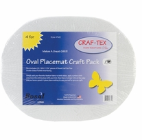 Craf-Tex Oval Placemat Craft Pack Oval White
