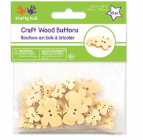 Craft Shaped Natural Buttons Butterflies