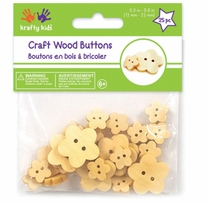 Craft Shaped Natural Buttons Flowers