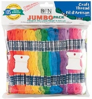 Craft Thread Jumbo Pack Assorted Colors - Click to enlarge