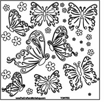 Crafter's Workshop Templates Butterflies