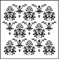 Crafter's Workshop Templates Damask