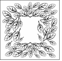Crafter's Workshop Templates Leaf Frame