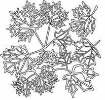 Crafter's Workshop Templates Maple Leaves