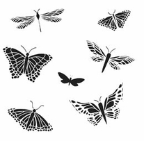Crafter's Workshop Templates Mariposas